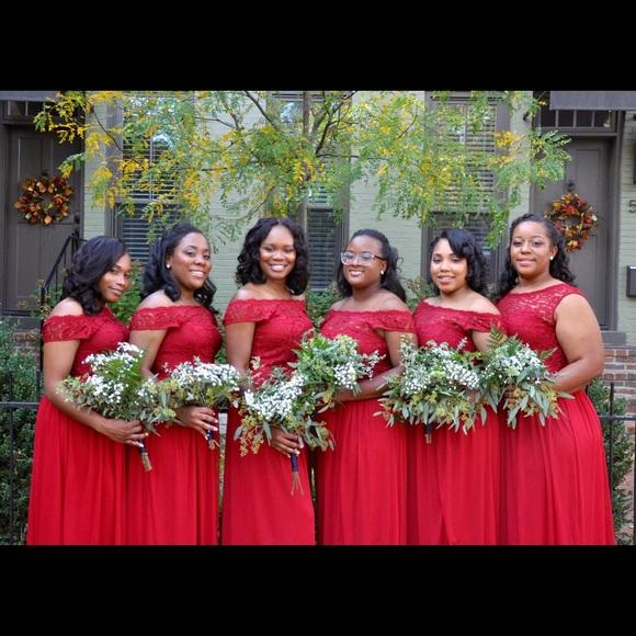 Apple Color Bridesmaid Dresses